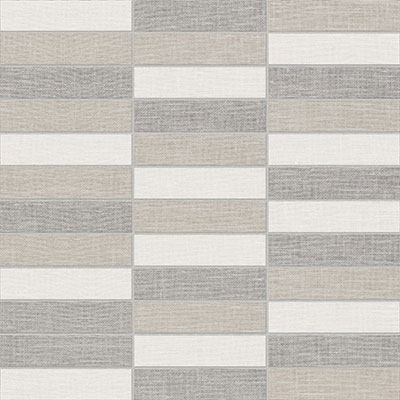 Anatolia Belgian Linen 1x4 Stacked Mosaic Light Blend Porcelain Tile